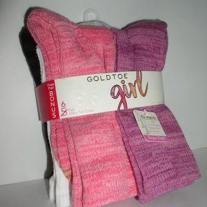 Gold Toe Girls Space Dye Athletic Crew Sock